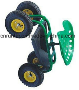 China Supplier Garden Rolling Seat Four Wheels Garden Tool Cart pictures & photos