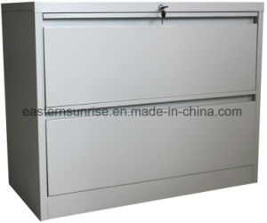 Office Use Vertical Two Drawer Storage Metal Steel Iron Cabinet pictures & photos