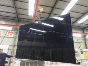 Nero Marquina (Less Veins) Marble pictures & photos