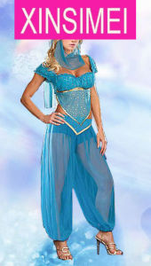 Best Selller Blue Colour Indians Sexy Costume