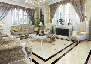 Porcelain Polished Flooring Copy Marble Tiles (8D684) pictures & photos