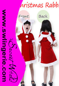 Red Little Girl Christmas Santa Costume T1323