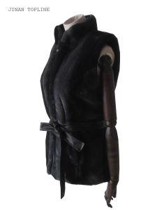 Women Fashion Fake Fur Faux Fur Winter Protection Vest pictures & photos