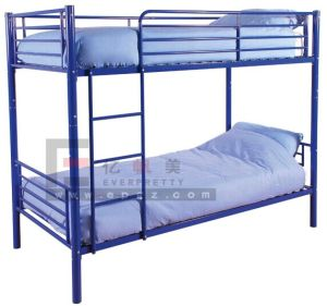 Modern School Dormitory 2 Decker Steel Bunk Beds with Storage and Stairs for Kids pictures & photos