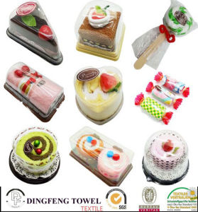 Hot Sales 100% Cotton Christmas Candy Cake Towel pictures & photos