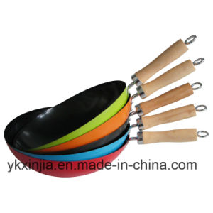 Colourful Carbon Steel Non-Stick Chinese Iron Wok pictures & photos