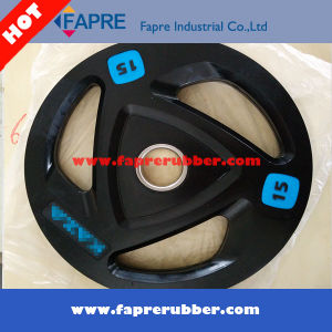 Rubber Coated Grip Olympic Plate pictures & photos