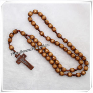 Religious Knot Wooden Rosary (IO-cr071) pictures & photos