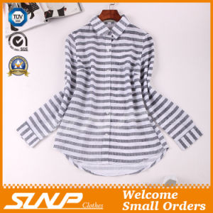 Good Quliaty Cotton Fashion Stripe Clothing with Buttons pictures & photos