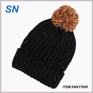 Wholesale 2015 Fashion Custom Winter Acrylic Knitted Hat Beanie pictures & photos