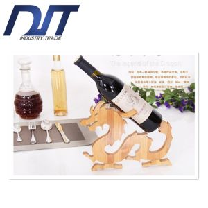 Factory Direct Popular Single Bottle Bamboo for Red Wine Rack pictures & photos
