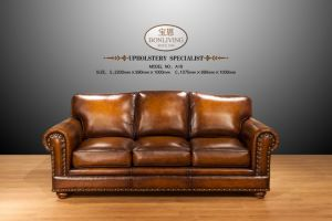 Rich Brown Leather Sofa Century American Aristocracy pictures & photos