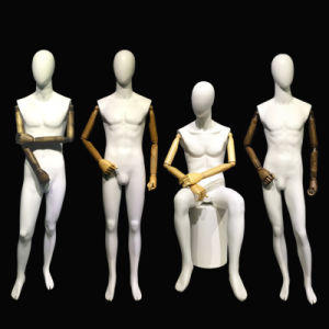 Male Mannequin with Wooden Arm pictures & photos