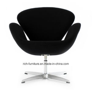 Modern Living Room Hotel Furniture Wool Fabric Swan Dining Leisure Chair Inspired by Arne Jacobsen pictures & photos