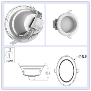 120mm White 9W LED Downlight