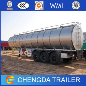 Low Price Tri-Axle 45m3 Fuel Tanker Semi Trailer pictures & photos