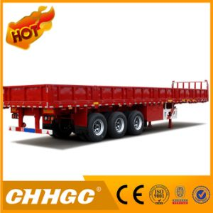 Chhgc 3 Axles Fence Semi Trailer with Side Wall 40t-80t Capacity pictures & photos