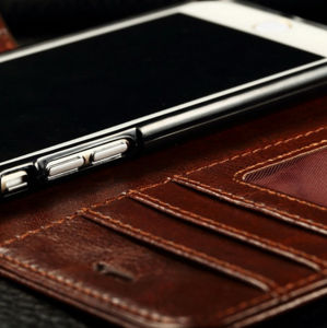 High Quality Luxury Flip PU Leather Case for iPhone 6 Mobile Phone Cover Case pictures & photos