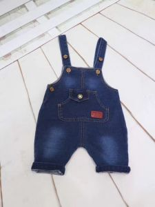 Boys Kids Soft Washed Denim Bib Overall pictures & photos