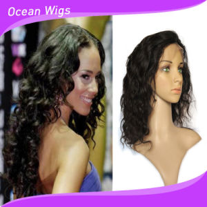 100% Human Brazilian Hair Body Wave Front Lace Wig pictures & photos