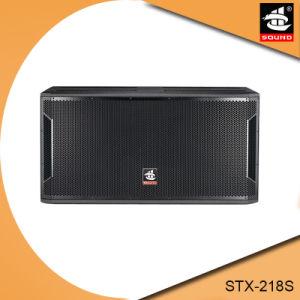 Dual 18 Inch Wooden Stage Subwoofer Speaker Stx-218s pictures & photos