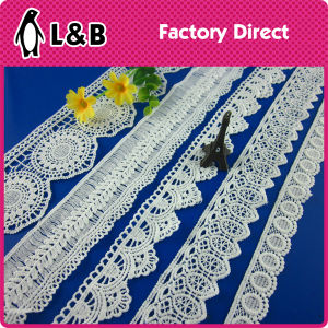2017 Design Flower Lace Trim with Eyelet for Dress pictures & photos