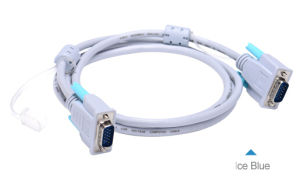 High Quality 20m Blue Magnet Ring VGA Cable pictures & photos