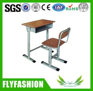 Simple Style Wooden Single School Desk and Chair Classroom Furniture (SF-08S) pictures & photos