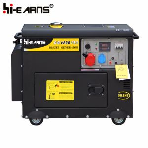 4kw Air-Cooled Silent Diesel Generator Set (DG5500SE) pictures & photos