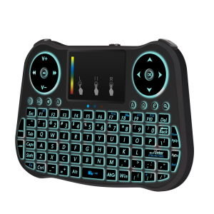 Mini Mt08 Wireless Keyboard 7 Colour Backlit 2.4GHz English Remote Control pictures & photos