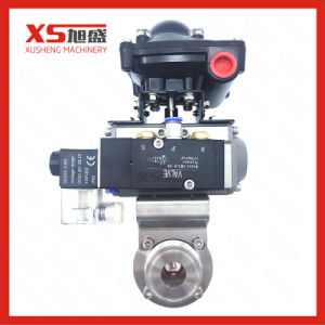 Actuator Pneumatic Butterfly Valve with Limited Switch Box Solenoid Valves pictures & photos