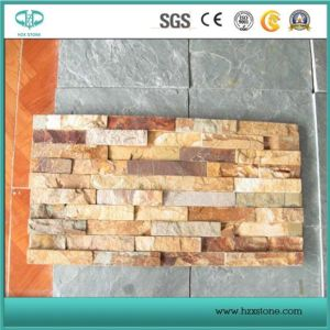 Mixed Color Natural Yellow/Black Basalt/Slate Stone/Flagstone Slate/Sandstone/Pavement/Cubes/Blind/Paver Stone for Outdoor pictures & photos