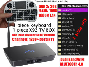 Android TV Box X92 Amlogic S912 Android 6.0 Qcta-Core Dual WiFi (2.4GHz/5.8GHz) pictures & photos