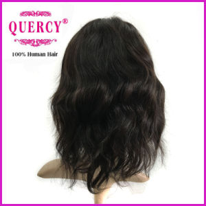 10inch Deep Wave 100% Indian Human Hair Cheap Lace Front Wig with Baby Hair pictures & photos