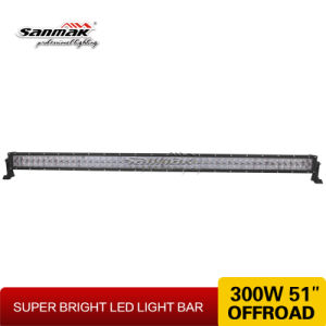 300W Super Bright Fish-Eye 100LEDs Double Row LED Light Bar pictures & photos