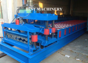 Glazed Steel Roof Tile Roll Forming Machine pictures & photos