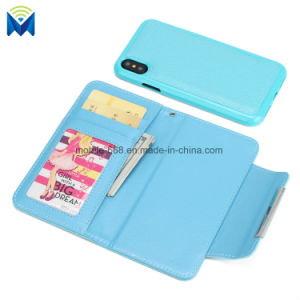 Magnetic Removable Detachable Flip Stand Mobile Phone Wallet Leather Case for iPhone X 6 7 etc. pictures & photos