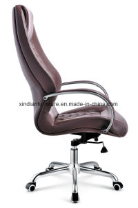Aluminium Base and Armrest Swivel Leather Boss Chair for Office pictures & photos