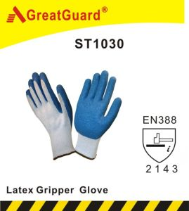 Latex Glass Gripper Glove (ST1030GRN) pictures & photos