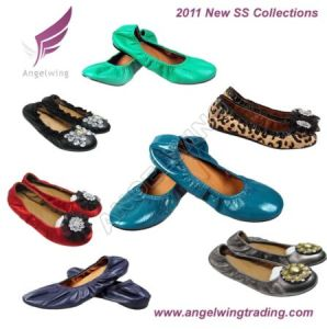 Lady Leather Flat Shoes