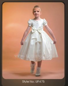 Lace Flowergirl Wedding Dress Children Wear (UF475)