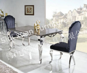 2015 New Style Hot Sale Marble Stainless Steel Dining Table View Steel Dining Table pictures & photos