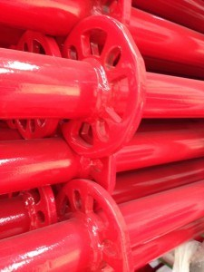 Ringlock Scaffolding Horizontal with Red Powder Coated pictures & photos
