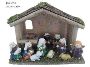 11 Pieces Ceramic Nativity Set Figutine (D19-005)