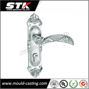 Flower Carved Zinc Alloy Handle with Nickle Plating pictures & photos