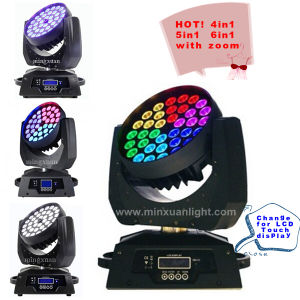 RGBW 6in1 Wash LED Moving Head Zoom Light (205) pictures & photos