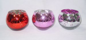 Color Glass Candle Holder (DRL06158) for Valentine′s Day pictures & photos