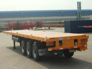 Cimc Flatbed Semitrailer Container Trailer Truck Chassis pictures & photos