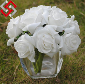6 Heads/Bunch Rose Flowers Artificial PE Flowers for Wedding