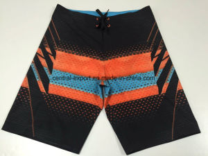 Oeko-Tex Flat Waist Polyester Patterned Men Board Short Swimwear pictures & photos